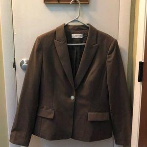 Womens Calvin Klein Brown Suit Jacket